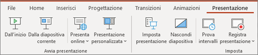 Presentazione in PowerPoint per Office 365