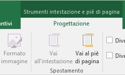 Barra degli strumenti Progettazione di Excel