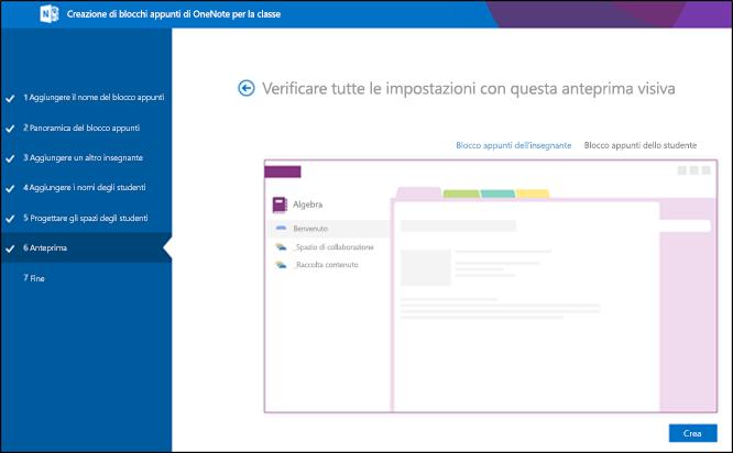 Screenshot della schermata di anteprima di Office 365.