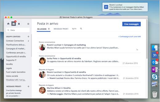 Schermata di App desktop