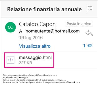 Visualizzatore Crittografia messaggi di Office 365 per Outlook per iOS 1