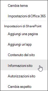Collegamento di informazioni sul sito di SharePoint