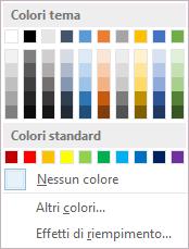 Opzioni per i colori di pagina sulla barra multifunzione