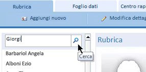 Casella di ricerca in un database Web