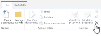 Elimina documento nella scheda File