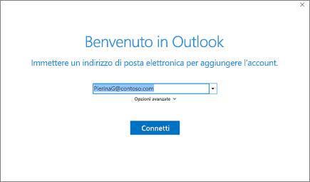 Benvenuto in Outlook