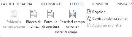 Gruppo di campi di scrittura e inserimento