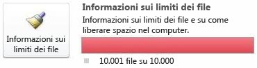 Contatore documenti di SharePoint Workspace, utilizzando 10.000 o più documenti