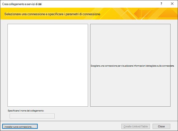 Installazione di una connessione dati a un servizio Web