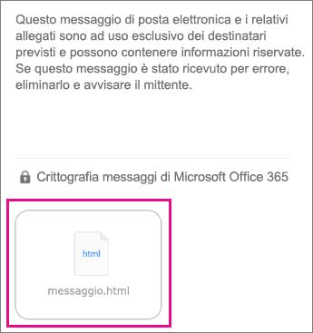 Visualizzatore Crittografia messaggi di Office 365 per l'app di posta iOS 1