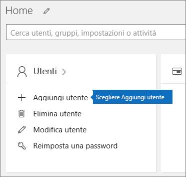 Nell'interfaccia di amministrazione scegliere Aggiungi utente nella scheda Utenti