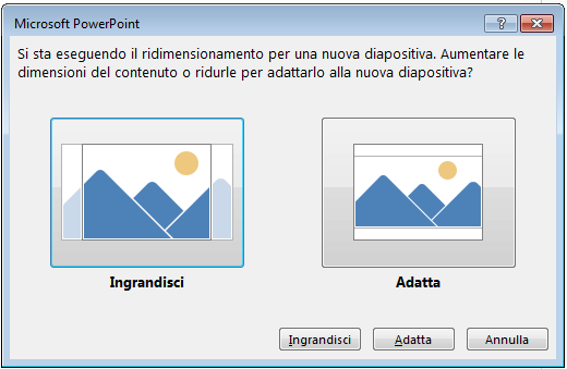 Se si scegliere di ingrandire, alcuni contenuti potrebbero non rientrare nei margini di stampa, come illustrato nella figura a sinistra.