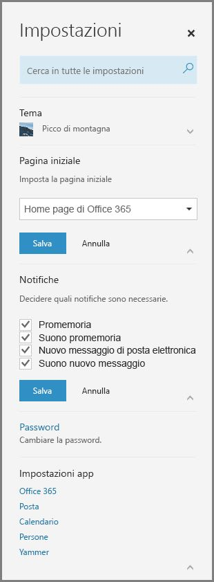 Notifiche di Office 365