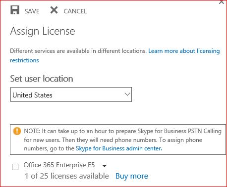 Una schermata della pagina Assegna licenza