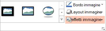 Mostra il pulsante Layout immagine nella scheda formato