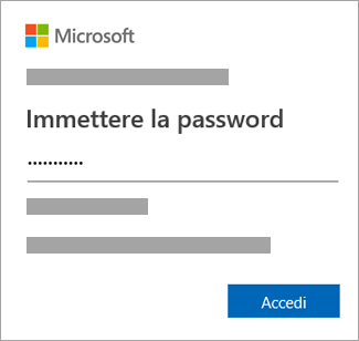 Immettere la password.