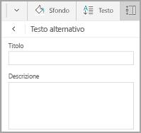 Testo alternativo tabella in Windows Mobile