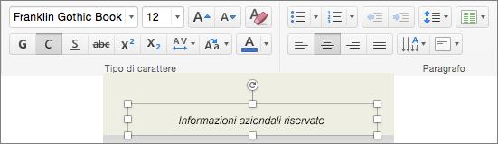 Modifica della formattazione del piè di pagina