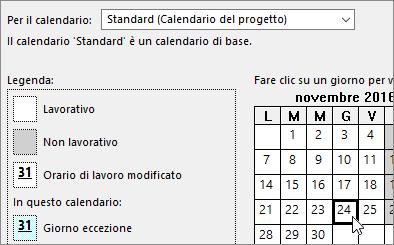 Calendario Giorno.Aggiungere Una Festivita Al Calendario Del Progetto Project