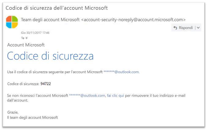 Reimpostazione della password legittimi Microsoft