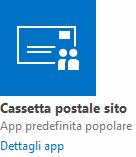 App Cassetta postale del sito