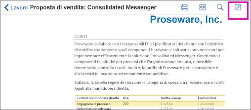 Strumento commenti PDF