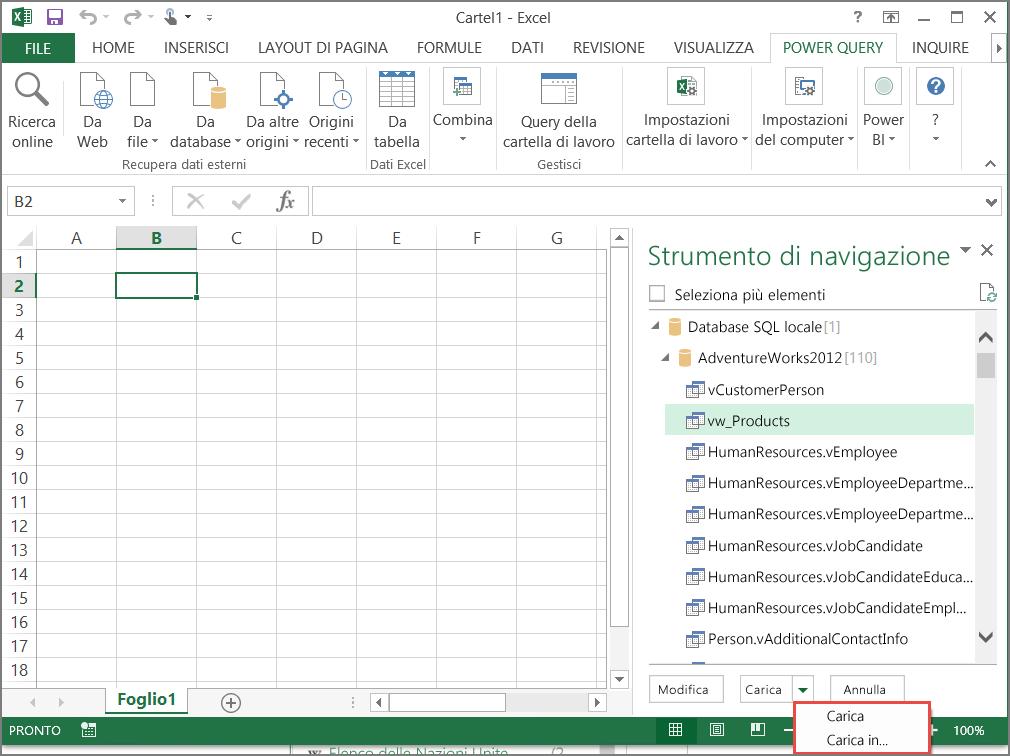 pulsante indice contatti di Outlook