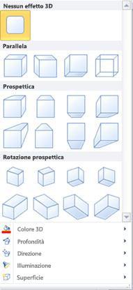 Opzioni di effetti 3D WordArt in Publisher 2010