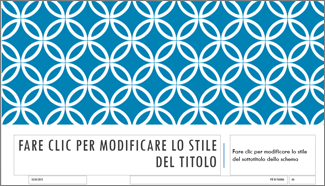 Layout diapositiva titolo integrale in PowerPoint