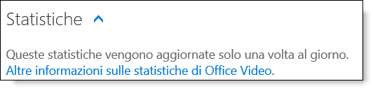 Statistiche in Office 365 Video