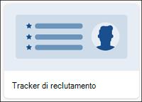 Modello di elenco Tracker di reclutamento