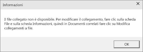 Mostra l'errore del file collegato in PowerPoint