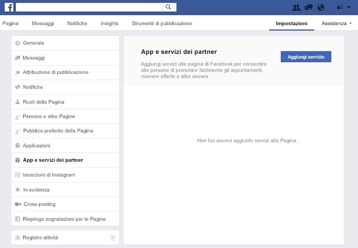 Riquadro partner App e servizi