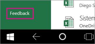 Comando Commenti e suggerimenti nel menu File