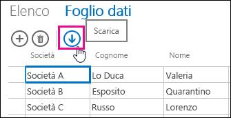 Icona barra multifunzione di Excel