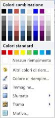 Opzioni di riempimento forme WordArt in Publisher 2010