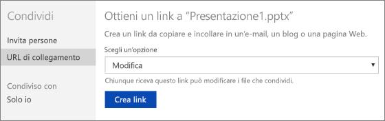 Ottenere un collegamento a una presentazione