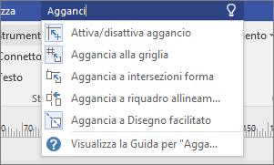 Casella Aiutami, con un testo immesso e le relative opzioni visualizzate