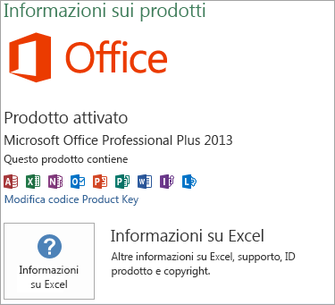 Installazione di Excel MSI