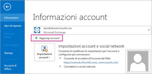 Per aggiungere un account Gmail in Outlook, fare clic sul pulsante Aggiungi account