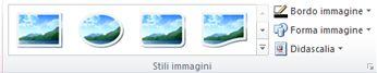 Gruppo Stili immagini della scheda Strumenti immagine di Publisher 2010