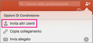 Condivisione in PowerPoint per Mac