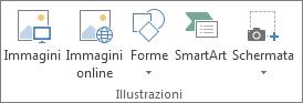Gruppo Illustrazioni della scheda Inserisci in Excel