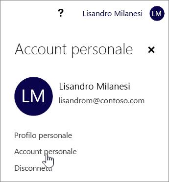 Pulsante account personale