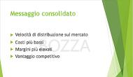 """Esempio di filigrana di testo, """"BOZZA"""", usata come sfondo di una diapositiva di PowerPoint"""