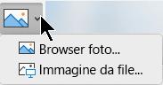 Pulsante Inserisci immagini nella scheda Inserisci della barra multifunzione