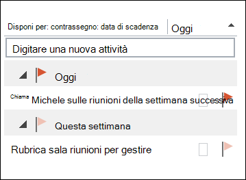 È possibile modificare l'ordinamento delle attività sulla barra da fare.