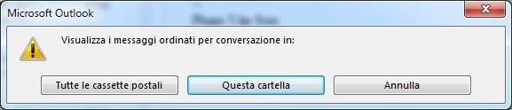 Finestra di dialogo per modificare le cartelle che utilizzano le conversazioni