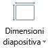 Icona di dimensioni diapositiva