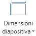 Icona dimensione diapositiva